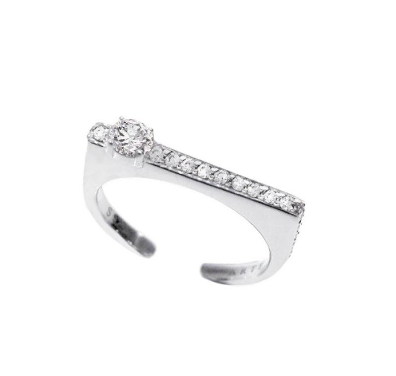 ARTĒMinimal迷你戒指系列Square晶鑽尾戒 NT$4,000
