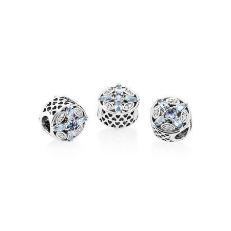 PANDORA 凝霜掠影藍色水晶925銀串飾NT$3,180