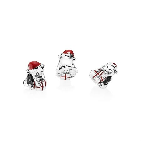 PANDORA 淘氣聖誕小貓925銀串飾 NT$1,780