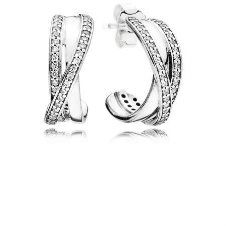 PANDORA 星環鋯石925銀耳環NT$3,580