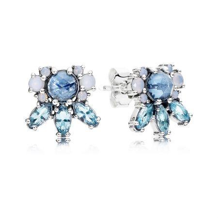 PANDORA 凝霜掠影藍水晶925銀耳環NT$3,580