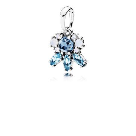 PANDORA 凝霜掠影藍色水晶925銀吊飾NT$2,680