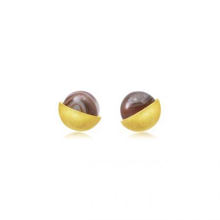 點睛品 g COLLECTION 999.9 黃金瑪瑙耳環,NT$8,900