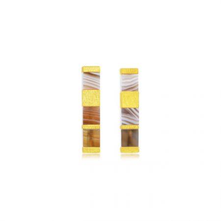 點睛品 g COLLECTION 999.9 黃金瑪瑙耳環,NT$11,600