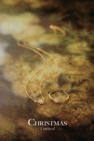 agete 聖誕限定系列 項鍊$24,800、戒指$24,800