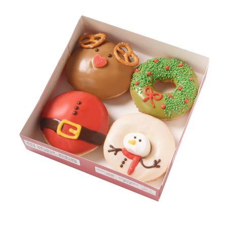 11/24-12/26▶4入限量Kristmas禮物(4款聖誕甜甜圈各一) 耶誕價 $195