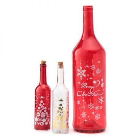 耶誕奇遇LED玻璃罐燈,售價紅色中&白色中520元,紅色大 1650元