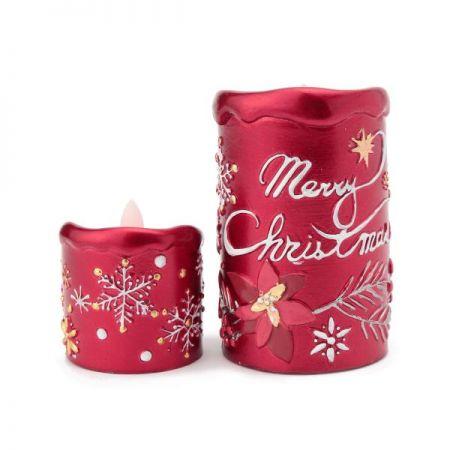 耶誕奇遇LED蠟燭燈(紅色),售價小 520元、中780元