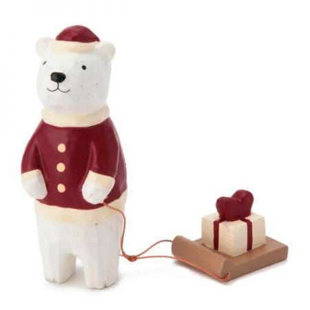 溫馨耶誕木質擺飾(白熊),售價 490元