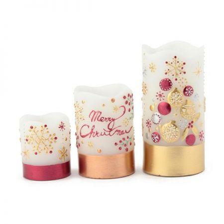 耶誕奇遇LED蠟燭燈,售價小450元、中820元、大980元