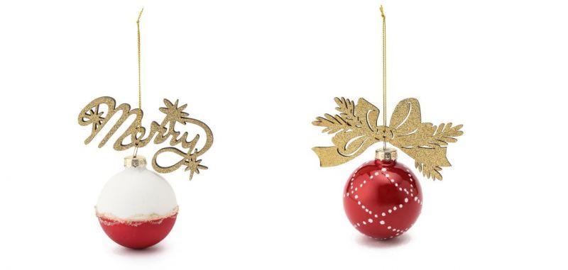 耶誕奇遇玻璃球吊飾(MERRY、蝴蝶結),售價260元