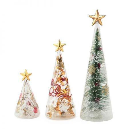 耶誕奇遇玻璃聖誕樹LED燈,售價小450元、中790元、大1250元