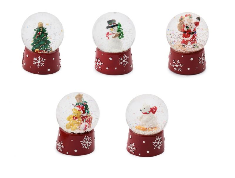 耶誕奇遇迷你雪花球(聖誕樹、雪人、聖誕老人、熊與聖誕樹、北極熊),售價 220元