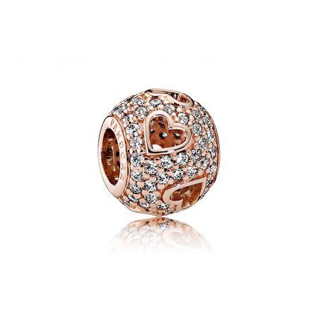 PANDORA Rose 愛心鋯石串飾NT$3,580