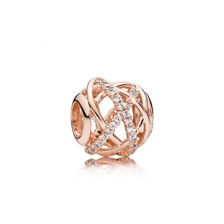 PANDORA Rose 同心結簍空鋯石串飾 NT$3,180