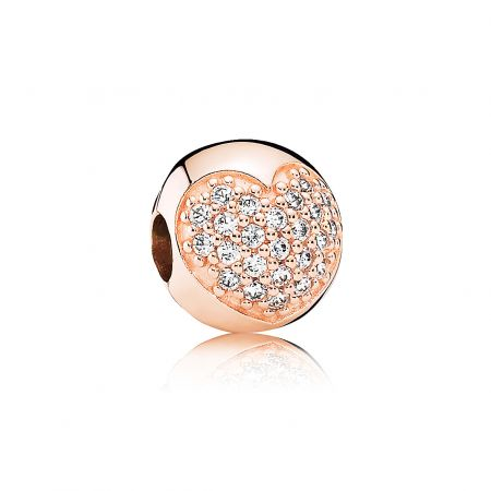 PANDORA Rose 愛心鋯石串飾 NT$3,580