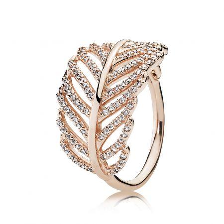 PANDORA Rose閃爍羽毛鋯石戒指 NT$4,480