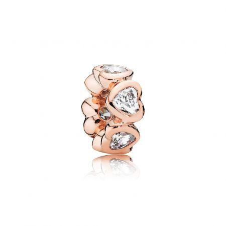 PANDORA Rose愛心鋯石小串飾 NT$2,080