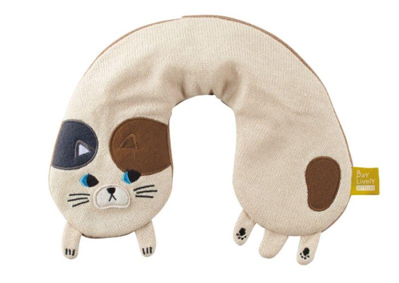 布製頸枕三色貓,NT 660元/個