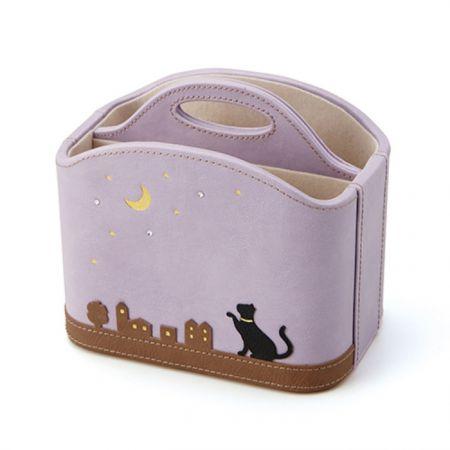 貓系列多功能遙控器收納架(紫/米),NT890元/個