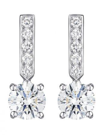 Piaget Elegance18k白金耳環鑲嵌中央單顆主鑽(約0.5克拉)及10顆圓型美鑽(約0.14克拉)G38B0200台幣參考售價 482,000起
