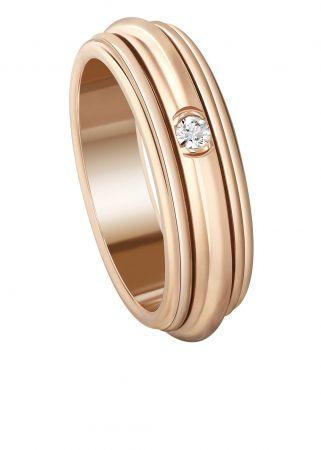 Possession18K玫瑰金指環鑲嵌1顆圓形美鑽(約0.04克拉)G34P6A53台幣參考售價81,000元
