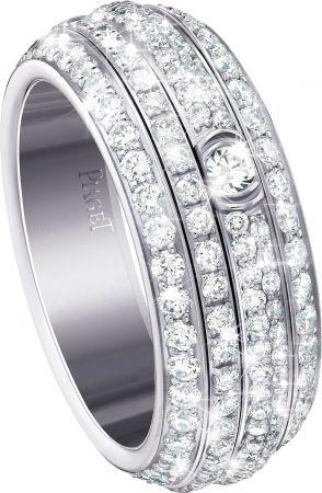 Possession18K白金指環鑲嵌234顆圓形美鑽(約2.20克拉)G34P2B00台幣參考售價540,000元
