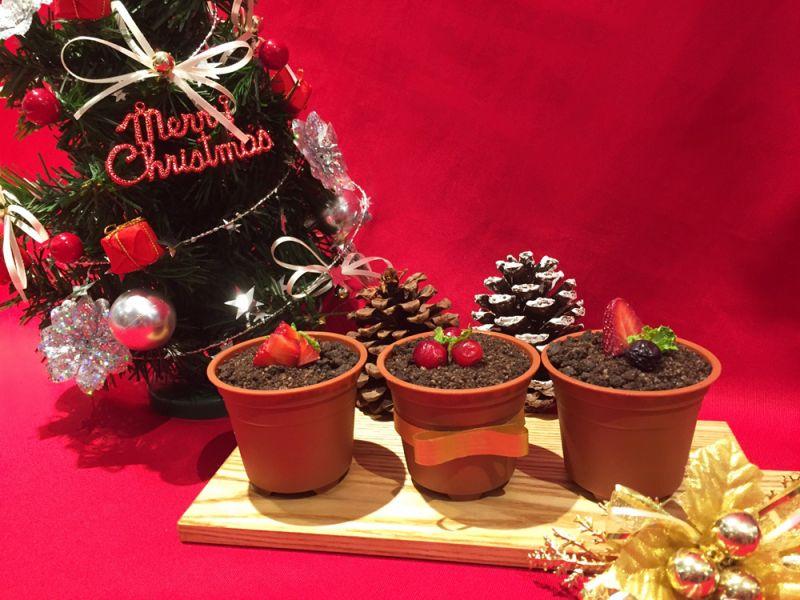 九州鬆餅Kitchen聖誕甜點手作體驗-盆栽提拉米蘇