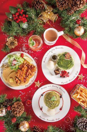 12/1~12/25期間限定販售「九州鬆餅聖誕雙人套餐」售價990元