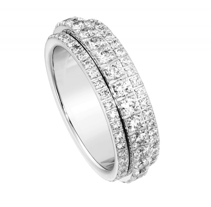 Possession18K白金指環鑲嵌46顆圓形美鑽(約0.45克拉)G34P9A52台幣參考售價192,000元