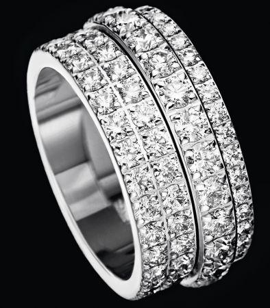 Possession18K白金指環鑲嵌122顆圓形美鑽(約3.89克拉)G34PX600台幣參考售價570,000起