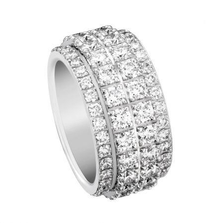 Possession18K白金指環鑲嵌112顆圓形美鑽(約5.45克拉)G34PY900台幣參考售價 825,000 起
