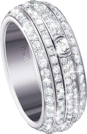 Possession18K白金指環鑲嵌234顆圓形美鑽(約2.20克拉)G34P2B00台幣參考售價520,000起