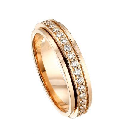 Possession18K玫瑰金指環鑲飾37顆圓形美鑽(約0.56克拉)G34PC300 台幣參考售價165,000元