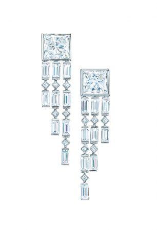 Tiffany 鑽石垂墜耳環
