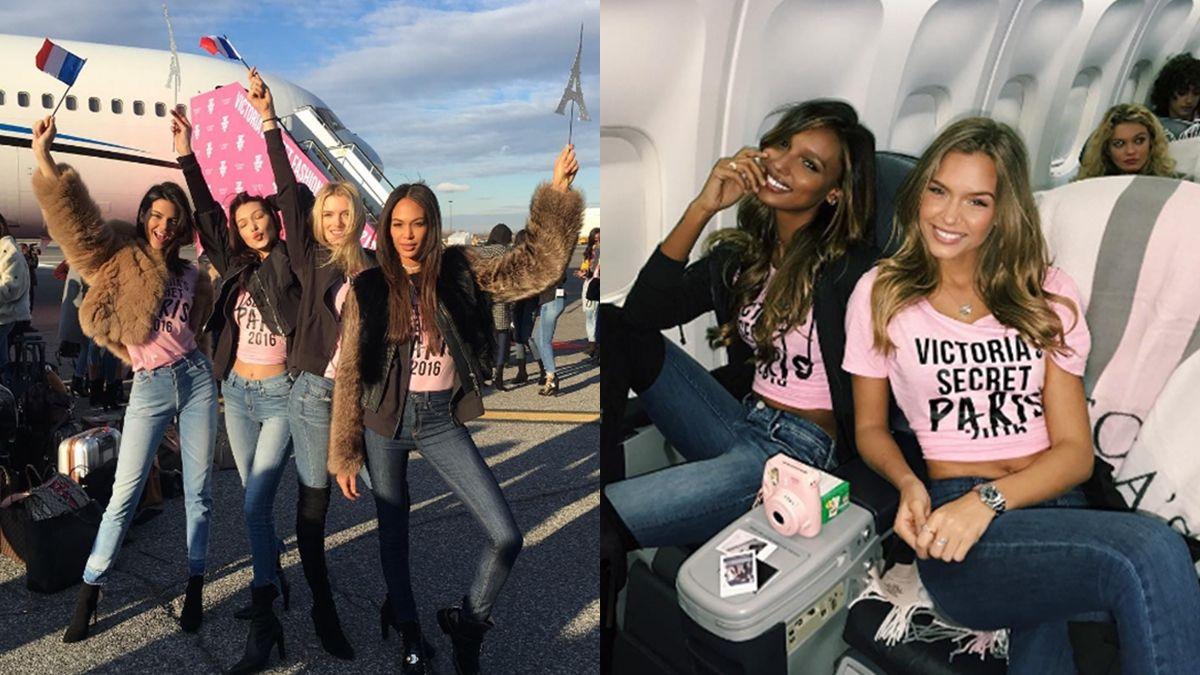 最性感的粉紅專機!自拍、跳舞…維密天使們在飛機上都在做這些事