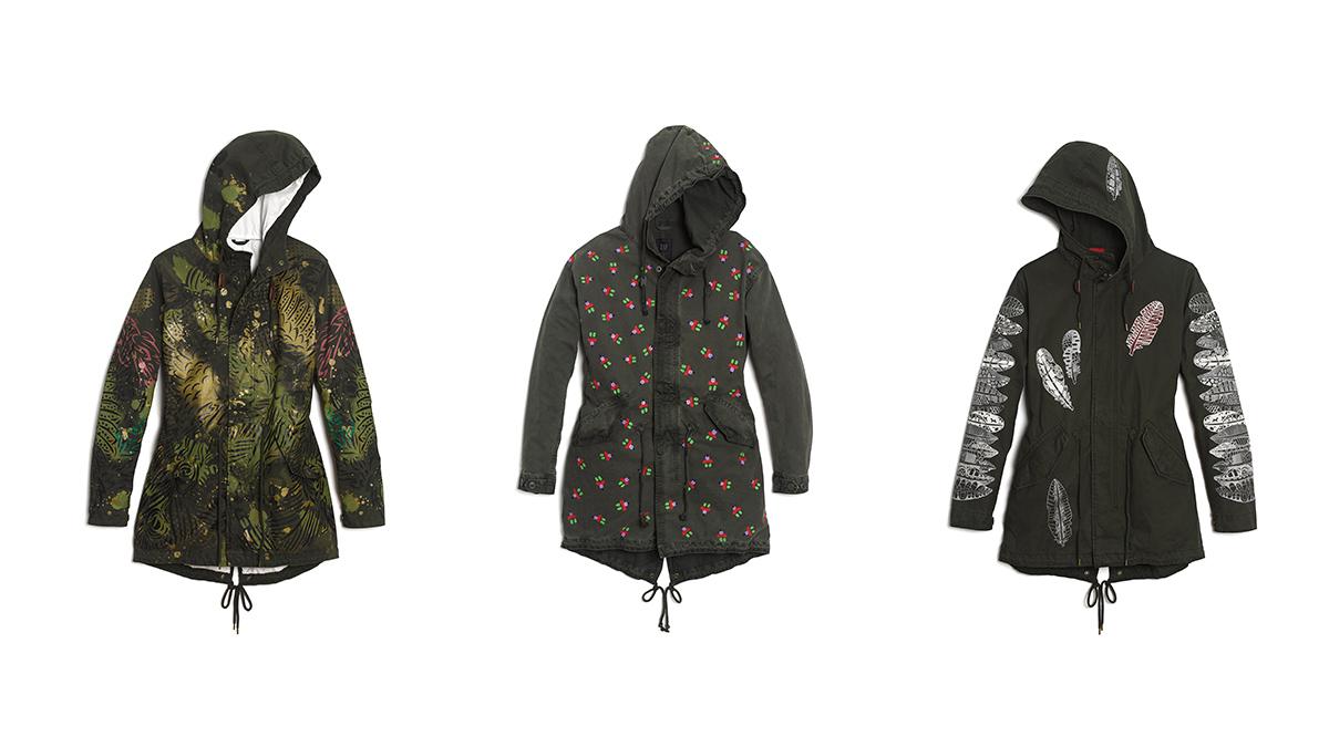 來自世界各地的愛!6件街頭藝術家限定版軍裝夾克