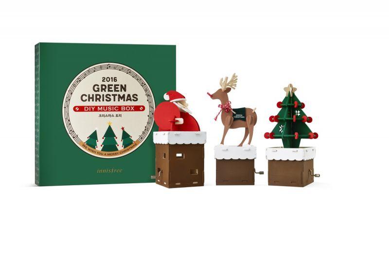 innisfree 2016綠色聖誕DIY音樂盒,NT250(購買聖誕限定產品,加價購NT50)