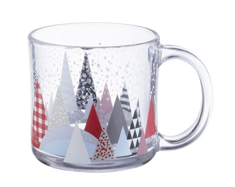 森林雪人把手玻璃杯