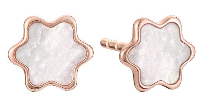 萬寶龍Souvenir dEtoiles Earstuds系列玫瑰金耳環,NT$32,500