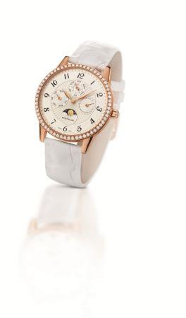 萬寶龍Boheme寶曦系列萬年曆玫瑰金鑲鑽腕錶,NT$691,700