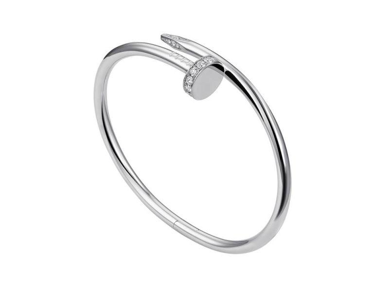 白K金鑲嵌鑽石手環,Cartier。