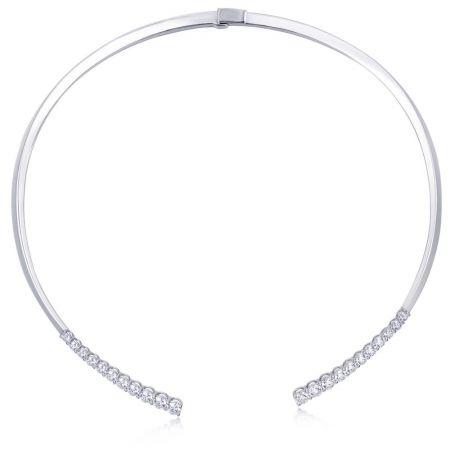 白K金鑽石頸鍊,Emphasis Jewellery。