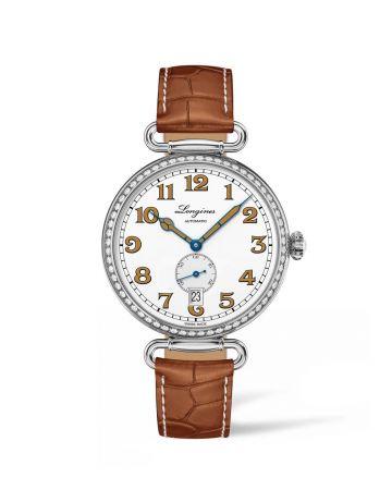 浪琴表復刻系列1918 鑲鑽腕錶