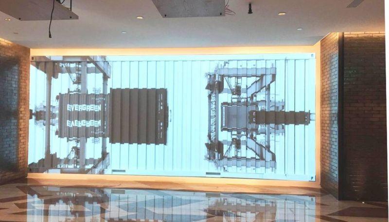 一樓craft cafe通往二樓餐廳前,特設置古早打狗風情歷史投影片牆面