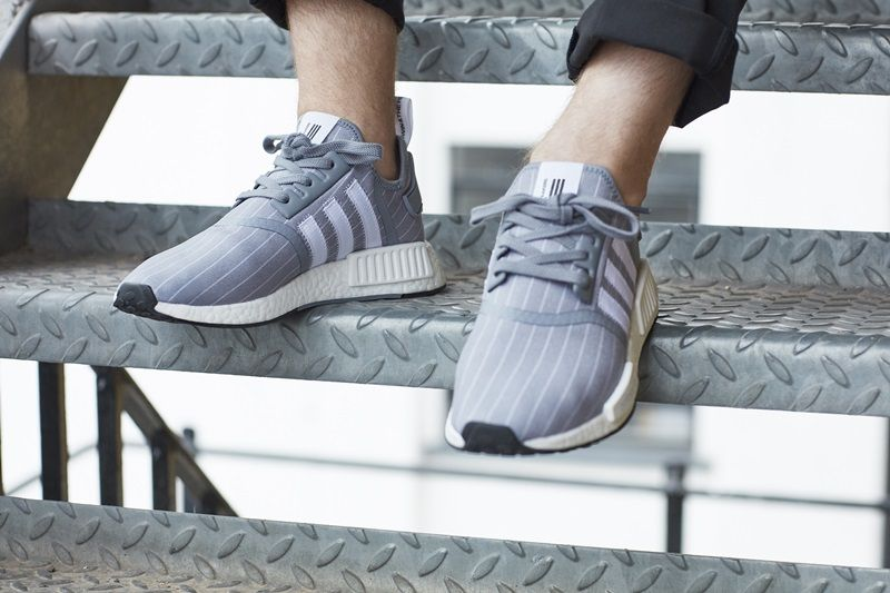 adidas Originals 與日本潮流品牌BEDWIN聯名款灰色NMD_R1 NTD6,200(男性鞋款)