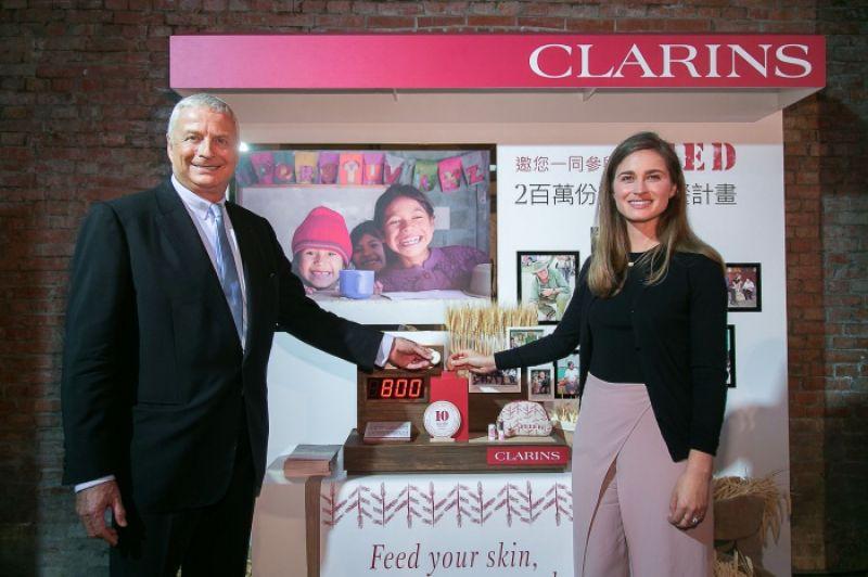 克蘭詩集團主席兼董事長Christian Courtin-Clarins與FEED創辦人暨執行長Lauren Bush Lauren