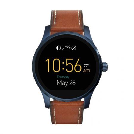 Fossil Q Marshal 觸控式螢幕配咖啡色皮革錶帶 (FTW2106),NT$10,500
