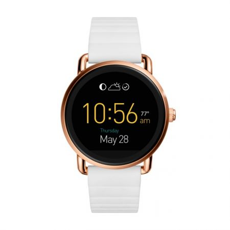 Fossil Q Wander 觸控式螢幕配白色矽膠錶帶(FTW2114),NT$10,500