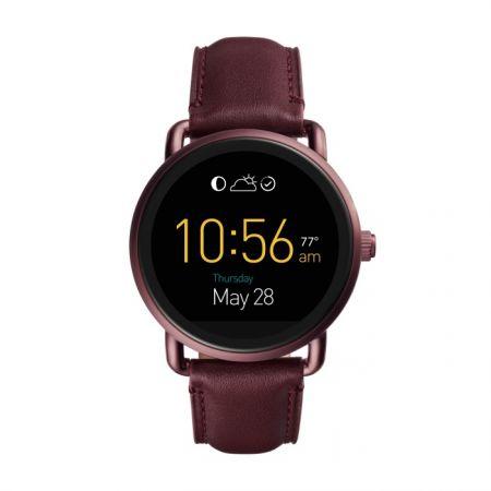 Fossil Q Wander_觸控式螢幕配酒紅色皮革錶帶(FTW2113),NT$10,500